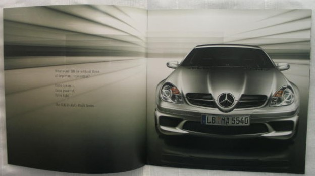 mercedes slk amg 55 black series prospekt ebay. Black Bedroom Furniture Sets. Home Design Ideas